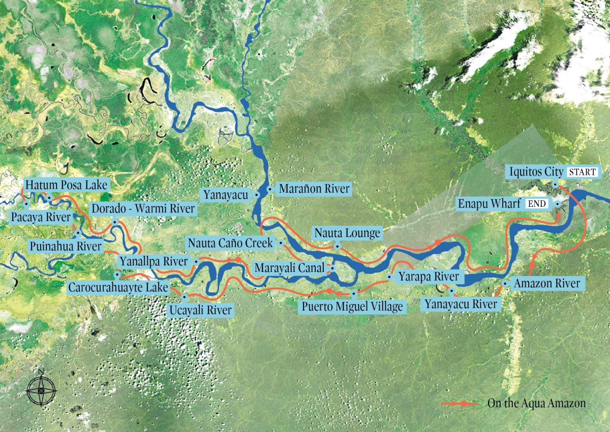 Amazon Expedition – Low Water Season Route Map
