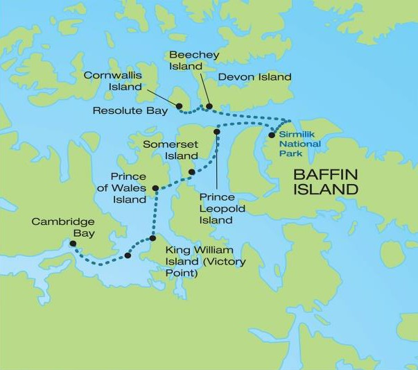 The Northwest Passage: Finding Franklin Route Map