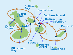 Galapagos Classic Route Map