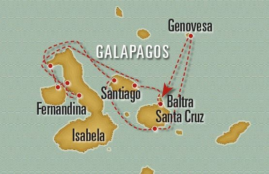 Galapagos Classic – Northwestern Route Map