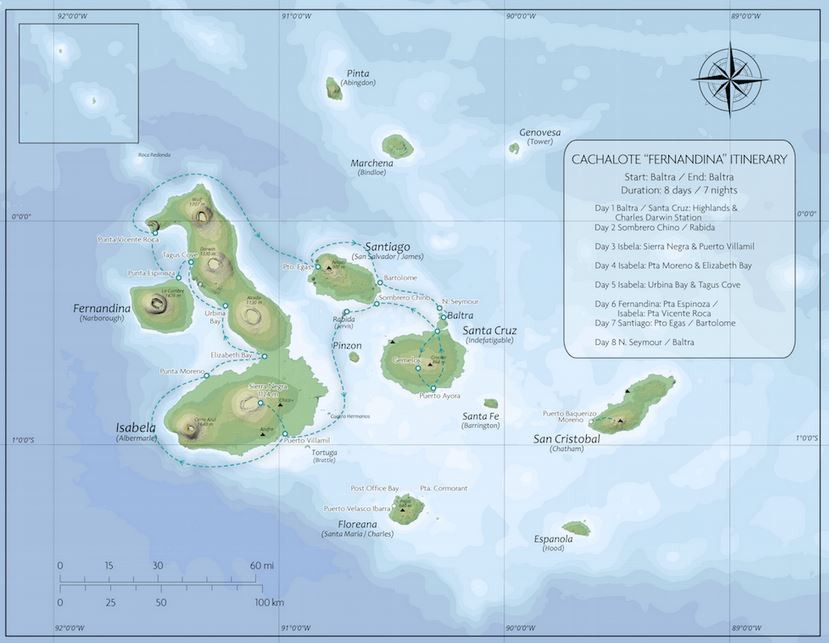 Galapagos Classic – Western Route Map