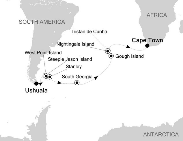 Cape to Cape Adventure: Argentina to South Africa Route Map