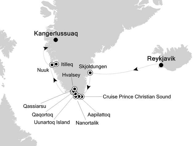 Greenland Expedition Route Map