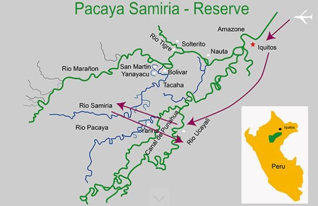 Amazon Classic – Pacaya Samiria Reserve Route Map