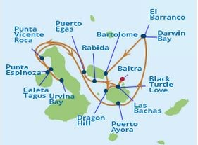 Galapagos Classic – Northern Route Map