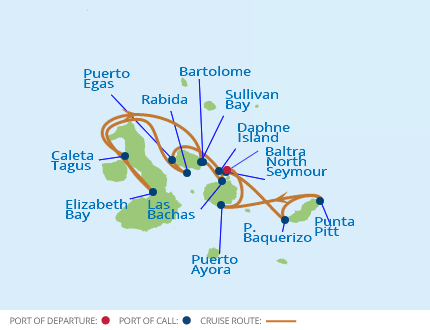 Galapagos Classic – Inner Loop Route Map