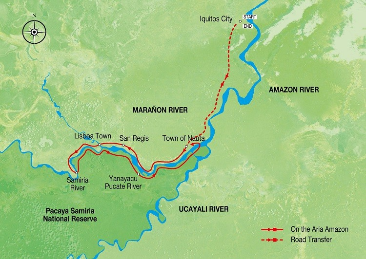 Amazon Discovery – Low Water Season Route Map