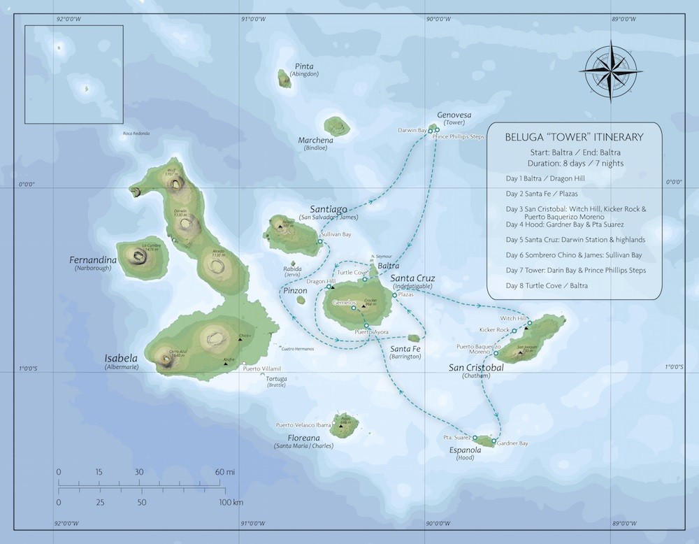 Galapagos Classic – Southern/Northern Route Map