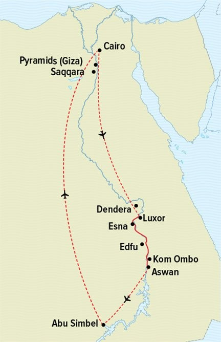 Passage Through Egypt Route Map