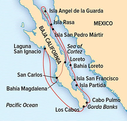 Baja California: Whales & Wildness Route Map