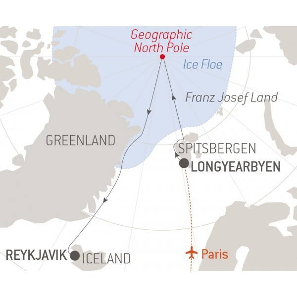 North Pole Route Map
