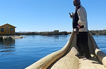 Reed boat ride, Uros Islands