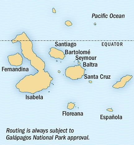 Epic Galapagos Photo Expedition Route Map
