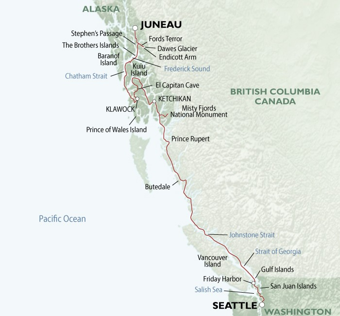 Alaska's Wilderness Passages of Discovery Route Map