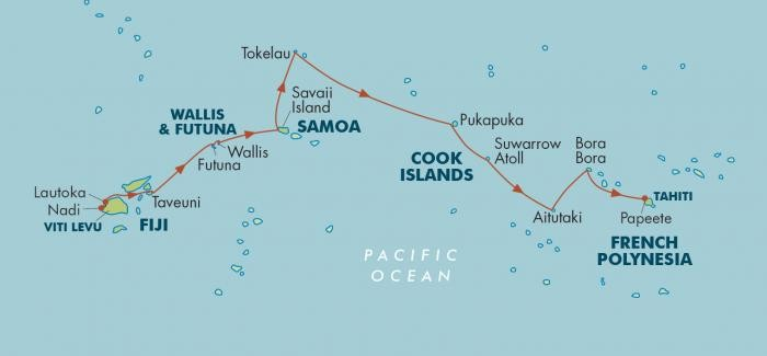 Faces of Polynesia: Fiji to Tahiti Route Map