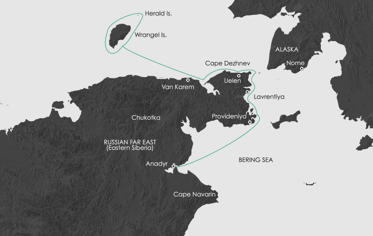Wrangel Island: Across the Top of the World Route Map